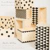 Caja de madera inacabadas Hongdao para almacenamiento de regalo