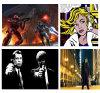Het moderne Schilderen van het Begin van de Film van het Olieverfschilderij van het Pop-art op Canvas, Pulp Fiction, Joker, de Oorlog van de Ster