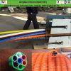 PE plástico linha de produção Sheathed da extrusora da tubulação da espiral da câmara de ar do bacalhau
