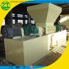 Desfibradora doble del eje para el plástico/la madera/el papel