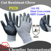 13G PE Knitted Glove avec Steel Core Inside et NBR Coated Palm/En388 : 4543