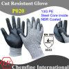 13G ЧП Трикотажные перчатки со стальным сердечником Inside & NBR покрытием Палм / EN388: 4543