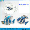 Wasserdichtes Kristallschmucksache-Fische USB-Blitz-Laufwerk