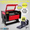 máquina de gravura do laser 60W com linha central giratória