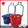 Quatro Rodas Material Plástico cesto de compras de supermercado