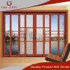 El mejor venta de madera aluminio puertas corredizas de vidrio de color con pantalla de la Mosca