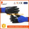 2017 Ddsafety синий нейлон с черным покрытием нитриловые перчатки