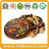 За круглым столом подарок металлические пекарня Тин в салоне на Рождество Тин дела