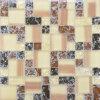 Venta caliente Mezclar el color Backsplash mosaico de vidrio cristal de 8mm para las paredes