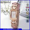 Montre-bracelet en acier de dames de quartz de vente chaude de mode d'ODM (Wy-020B)