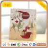 クリスマスのシカパターンギフトの紙袋