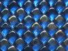 Het hete Verkoop Opgeslagen Mozaïek van het Glas van het Ijsblokje van de Kleur van het Punt Blauwe
