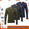 Pullover del maglione delle lane dell'esercito di verde verde oliva con le zone del gomito della spalla