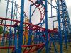 Montagnes russes superposantes Chaud-Façonnées avec une boucle en parc d'attractions
