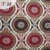 Rouge et tissu circulaire de jacquard de Chenille de Brown pour la présidence et les meubles