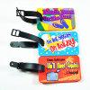Tag personalizado barato da bagagem do PVC 3D/Tag de borracha macio plástico da bagagem do PVC