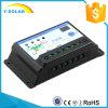 12V/24V 10AMP Settableゲルによってあふれられる密封された電池の太陽コントローラS10I