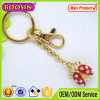 Metallo Silver Plated Car Keychain/Customized Brand Keychain con Keyring