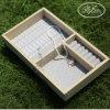 Деревянная коробка кольца без материала подноса индикации ювелирных изделий крышки деревянного