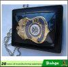 Insignia de la policía de la cartera de encargo Insignia del oficial de la divisa de la seguridad