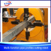 El tubo del cuadrado del tubo sin soldadura perfila la cortadora del cartabón del Oxy-Combustible del plasma del CNC