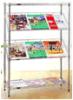 Без подставки конторской мебели хром металлический провод Tabloid газеты для установки в стойку для продажи