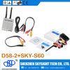 transmisor video Sky-N500 de 500MW 32CH Fpv con el receptor de diversidad D58-2 para Hubsan X4 H107D Fpv Quadcopter