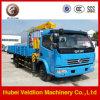 De Kleine Vrachtwagen Opgezette Kraan die van Dongfeng 2ton in Workshop gebruikt