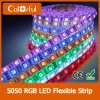 매우 밝은 DC12V는 유연한 SMD5050 RGB LED 지구를 방수 처리한다