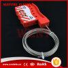 ナイロンケーブルのロックアウト、3mmの直径のナイロンによっておおわれる金属ケーブルと、1.8mの長さ