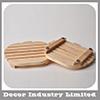 最新のデザイン環境に優しいAppleの整形固体ゴム製木製のコーヒー鍋のマット