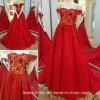 fora do vestido de casamento vermelho Yao93 do ouro do vestido de casamento do ombro