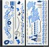 Голубой временно водоустойчивый Tattoo искусствоа стикеров Tattoo