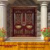 Porta dobro cinzelada exterior da entrada da madeira contínua da casa de campo (XS1-005)
