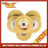 колесо высокого качества 100X12mm Non-Woven полируя (желтый цвет)