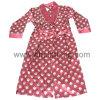 Robes de satin balayées par polyester de coton de dames