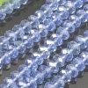 шарики кристаллический колеса 6*8mm голубые (03429)