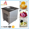 任意選択食糧はペダルの平らな鍋によって揚げられているアイスクリーム機械の霜を取り除く