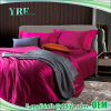 4PCS katoenen Villa Koningin Solid Red Duvet Covers