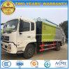 Dongfeng 6の車輪によって圧縮されるごみ収集車8つのTの屑のトラック