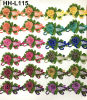 La broderie multicolore de fabrication d'usine conçoit le lacet de la fleur 3D