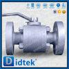 Lacre suave del fabricante de Didtek China que flota la vávula de bola doble