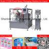 Bolsa de suporte de máquina de embalagem rotativo para detergentes líquidos
