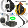 Nieuwe Bluetooth 4.0 Slimme Armband met Waterdichte W8