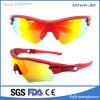Sports d'ordonnance abordables enrouler autour de lunettes de soleil rouge