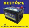 12V50ah accumulatore per di automobile libero di manutenzione acida al piombo di qualità di BACCANO 58500mf Corea