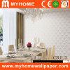Papel de empapelar de plata impermeable para la sala de estar
