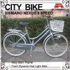 26 bicicleta de la ciudad de la velocidad del marco 3 de la aleación de la pulgada para la señora (