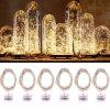 Weihnachtsbeleuchtung der Hochzeits-Dekoration-Tasten-batteriebetriebene kupferne Zeichenkette-LED