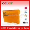 Sac réutilisable orange de voyage de sac de tirette tissé par pp